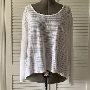 Guess knit high low long sleeve top